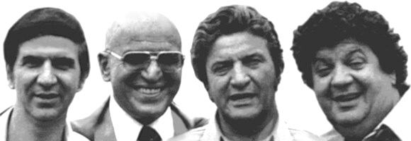 The Savalas Bros. (l-r): Teddy, Telly, Gus, and George
